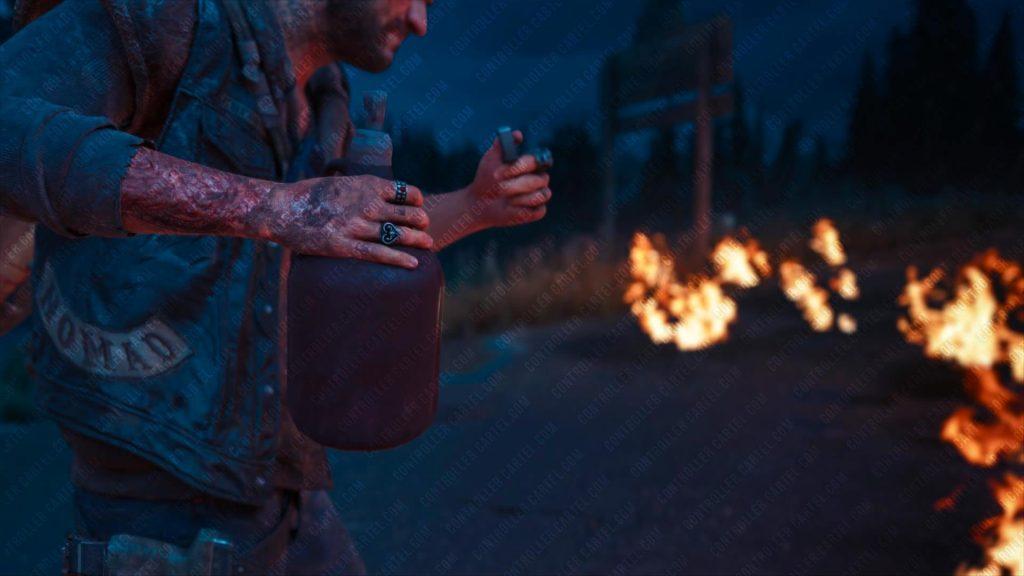Deacon Holding Napalm Molotov