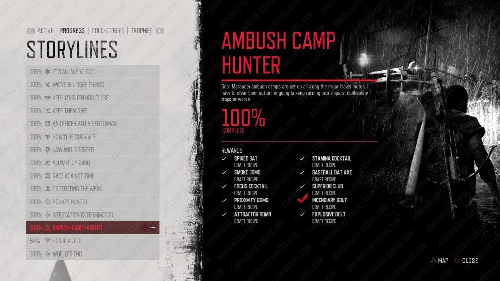 Ambush Camp Unlockables