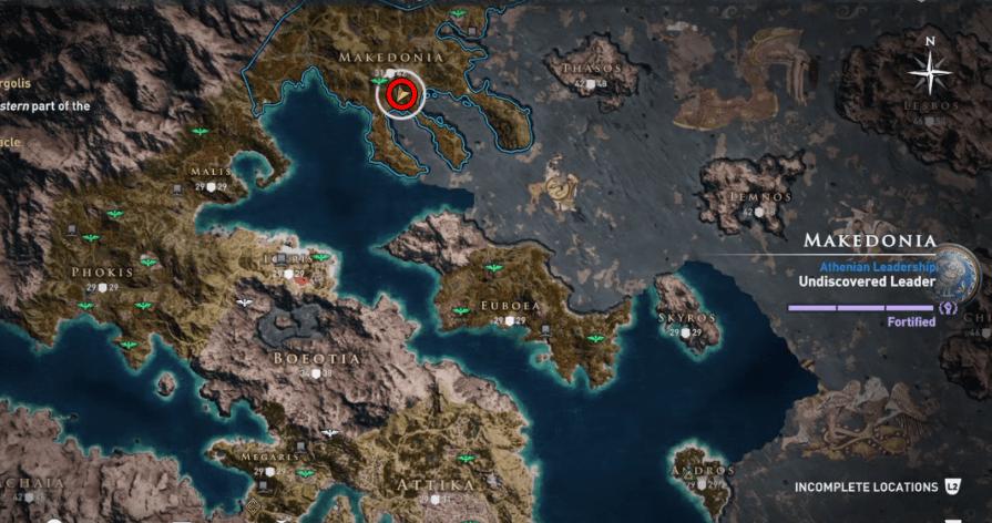 Assassins Creed Odyssey Legendary Chest Location-The Minotaurs Revenge
