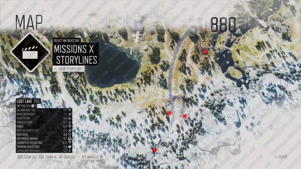 Berley Lake Infestation Locations