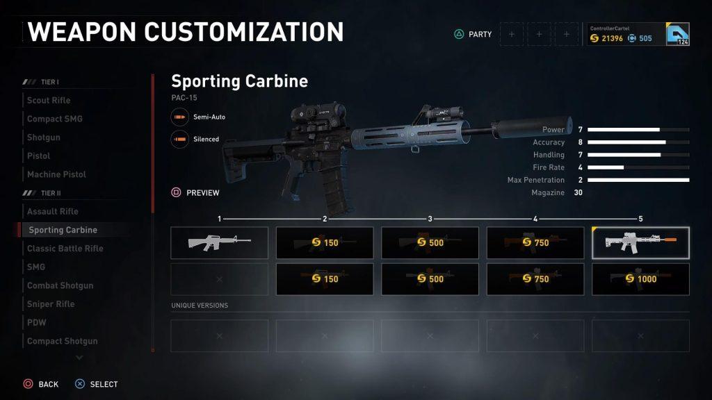 Sporting Carbine Pac 15 Upgrade