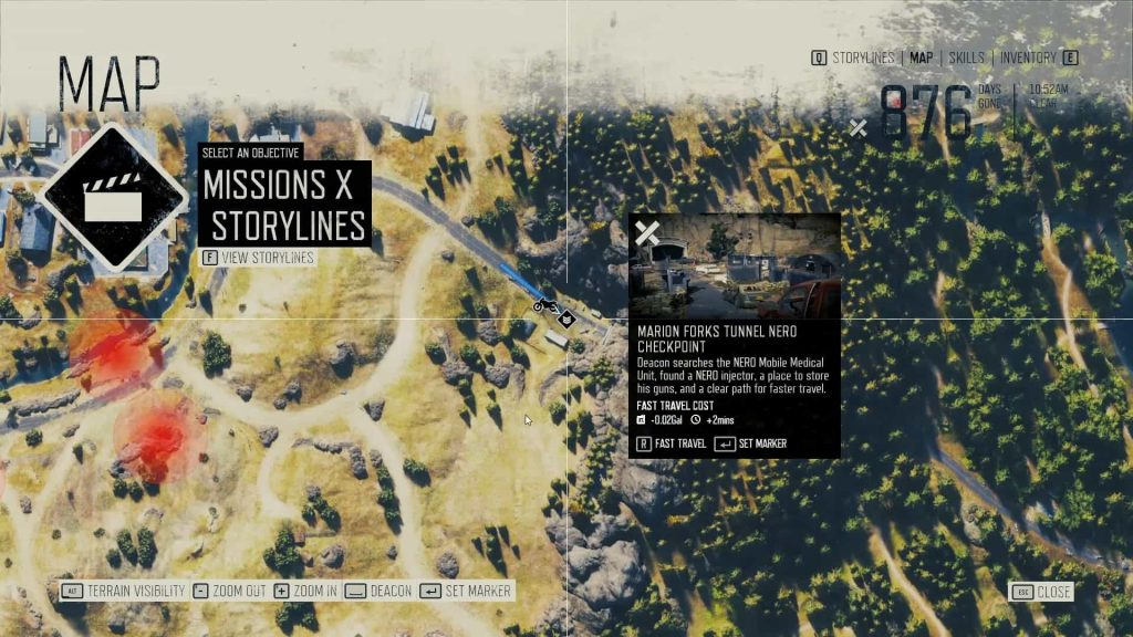Days Gone Kerosene Location 1 Map