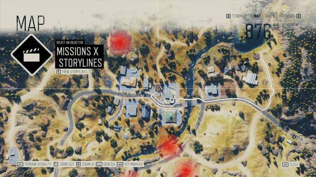 Days Gone Kerosene Location 4 Map
